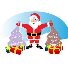 Père Noël avec des cadeaux de Noël
