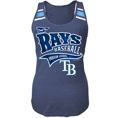 Tampa Bay Rays Women's Triblend Scoop Racerback Tank by 5th & Ocean - MLB.com Shop
