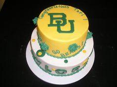 Grooms Baylor Wedding Cake
