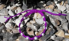 Purple Knotted Bracelet by SiobhanKeoghDesigns on Etsy, Knotted Bracelet, Bracelet Knots, Bracelets, Jewellery, Facebook, Purple, Trending Outfits, Unique Jewelry, Handmade Gifts