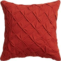 pintuck red-orange pillow with down-alternative insert - off, found on sale for HOME