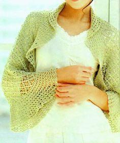 sweaters and shawls crochet | Crochet Sweater: Shrug - Crochet Shrug Pattern