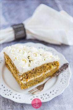 Ciasto dyniowe, doskonały wypiek na jesień i zimę. Pyszne ciasto z dyni z kremem.  #dynia #ciasto #przepis #cake #pumpkin #squash #deser Vanilla Cake, Pie, Cooking Recipes, Torte, Cake, Fruit Cakes, Chef Recipes, Pies