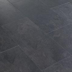 black slate tile floor   Black Slate Tile-Effect Laminate Flooring customer reviews ...