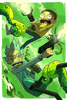 foxery: watch rick n morty (print available at. - wღrk b°tch Watch Rick And Morty, Rick And Morty Poster, Ricky Y Morty, Rick And Morty Drawing, Desenhos Halloween, Rick And Morty Stickers, Dope Cartoons, Adult Cartoons, Animation