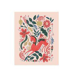 Rifle Paper Co. - Ruby Folk - Illustrated Art Print