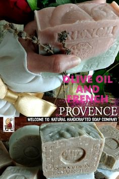 WE LOVE LAVENDER from PROVENCE and Olive OIl From GREECE !Lavender and olive oil postcard from Provence .Layer fragrant, sweet floral notes over grounded green herbs , Lavender Provence French and Olive Oil From Greece . Handmade Soaps, Etsy Handmade, French Soap, Organic Soap, Lavender Scent, Provence, Olive Oil, Greece, Herbs