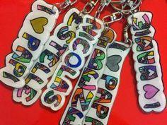 Porte clefs prénom en plastique fou • Hellocoton.fr