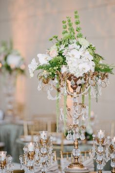 Gold Candelabras | Photography by Sunglow Photography | Floral Design by Creations by Mylez Edward