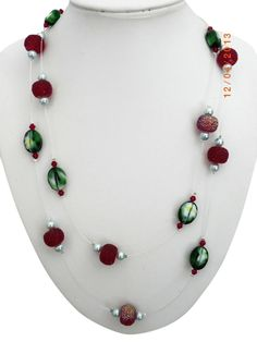 Christmas Necklaces | handmade-red-necklace-green-christmas-necklace-floating-523600.jpg