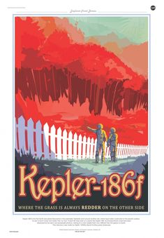 NASA Promotes Newly Discovered Planets with Retro Travel Posters - My Modern Met