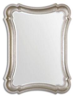 Galloway Oversize Mirror, Silver | Uttermost | One Kings Lane