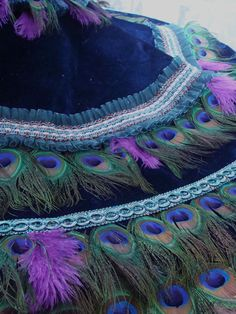 50 DEPOSIT  MULTI USE 36 Peacock Feather Christmas by Ivyndell, $175.00