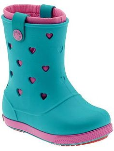 Crocs Crocband Hearts Boot (Toddler/Youth) | Piperlime