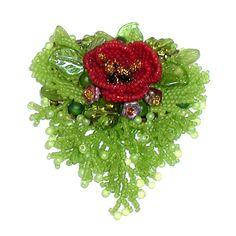 My Lovely Beads :: Brooch - Poppy