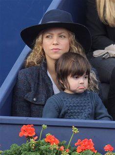 Shakira and son Milan