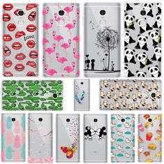 Mickey&Minnie kiss Lips pineapple unicorn Flamingo panda soft silicone cases cover For xiaomi redmi note 4 redmi note 4 p