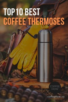 Need a good quality coffee thermos? We have handpicked and reviewed the best coffee thermoses to make sure your coffee is hot and tasty on the go!#coffeethermoses I Love Coffee, Coffee Art, Funny Coffee Mugs, Funny Mugs, Best Coffee Thermos, Hot Chocolate Party, Coffee Equipment, Coffee Accessories, Coffee Photography