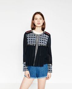 Image 2 of FLOWING EMBROIDERED JACKET from Zara