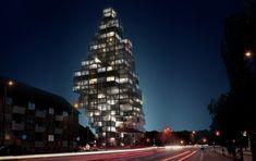 mvrdv, adept architects, sky village, sustainable skyscraper, modular skyscraper, green building, copenhagen skyscraper, green roofs