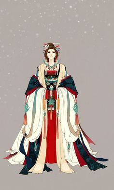 Illustrations by Ibuki Satsuki More of her art. - daily dose of mad honey Chinese Drawings, Chinese Art, Chinese Design, Art Asiatique, Japon Illustration, Ancient China, Art Graphique, Hanfu, Cheongsam