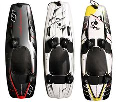 If you enjoy surfing, then you might enjoy Jetsurf motorized surfboard. It features 3 models: Born to Race for advanced riders and competition use, Born to Enjoy is the basic jetsurf for everyone, and Born to Thrill is fully equipped jetsurf.