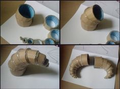 How To Make Horns With Just Cardboard and Hot Glue Horns are a handy cosplay accessory to have in your toolkit. They're great for fantasy costumes you put together at the last minute and are a fit for a variety of costume situations such as the ren… Cosplay Tutorial, Cosplay Diy, Cosplay Armor, Character Inspiration Fantasy, Halloween Diy, Halloween Decorations, Horns Costume, Satyr Costume, Dragon Horns