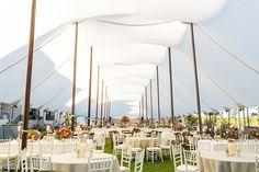 A gorgeous sailcloth tent rental for a Georgia wedding