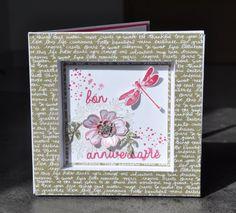 Carte cadre d'anniversaire Awesomely Artistic et perforatrice pensées dans son écrin avec son tutoriel par Marie Meyer Stampin up - http://ateliers-scrapbooking.fr/ - Flower Shop - Awesomely Artistic