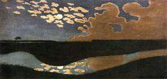 Felix Vallotton Solid-Faced Canvas Print Wall Art Print entitled Moonlight, None Canvas Wall Art, Wall Art Prints, Oil On Canvas, Landscape Art, Landscape Paintings, Oil Paintings, Watercolor Paintings, Nocturne, Beautiful Artwork