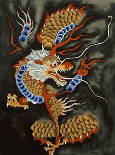 사단법인 한국 민화 연구소 Korean Painting, Chinese Painting, Korean Art, Asian Art, Traditional Paintings, Traditional Art, Korean Dragon, Misaki Kawai, Korean Colors