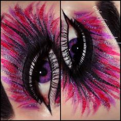 flamingo and mermaid dual purpose makeup / add silver accents Up Halloween Costumes, Mardi Gras Costumes, Halloween Makeup, Halloween Fun, Parrot Costume, Flamingo Costume, Flamingo Party, Carnival Makeup, Rave Makeup