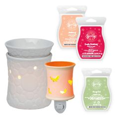 ((Click to Shop))Scentsy Companion System- 3 Scentsy Bars of your choice, 1 Plug-In Scentsy Warmer, plus 1 Full-Size Scentsy Warmer.