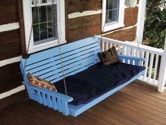 All Swing Beds - Pine Crossback Single Mattress Swing Bed, $659.99 (http://www.allswingbeds.com/pine-crossback-single-mattress-swing-bed/)