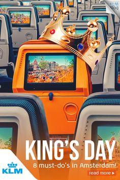 Thinking about Kingsday in Amsterdam always makes me smile spontaneously. It's the festival in Amsterdam's annual calendar of events. Amsterdam Food, Amsterdam Things To Do In, Amsterdam Travel, Kings Day, Entrepreneur Inspiration, Event Calendar, Blog, Arcade, Party