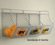 New! General Store Chicken Wire Bins with Chalk Boards