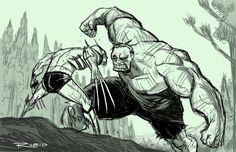 Wolverine Vs Hulk by Bobby Rubio