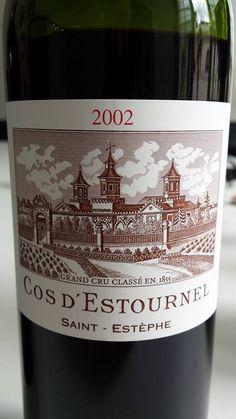 Vin du jour // Wine of the day: Château Cos d'Estournel – 2nd Cru Classé, Saint-Estèphe – 2002 (18.5/20) http://vertdevin.com/vin/chateau-cos-destournel-2nd-cru-classe-saint-estephe-2002/