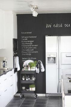 kitchen / chalk paint wall:
