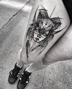 Amazing Blackwork Sketch Tattoos by Inez Janiak-01
