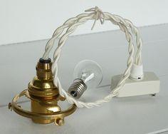 LED対応照明ランプシェードコードソケット白 B アンティーク Antique lamp shade ¥4200yen 〆04月06日