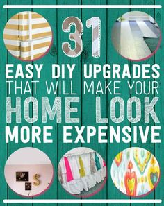 "Easy DIY Upgrades That Will Make Your Home Look More Expensive."" Some of these are good ideas. easy home diy upgrades 31 Easy DIY Upgrades That Will Make Your Home Look More Expensive Do It Yourself Design, Do It Yourself Inspiration, Do It Yourself Home, Home Upgrades, Easy Home Decor, Cheap Home Decor, Diy Home Projects Easy, Art Projects, Sewing Projects"