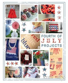 4th of July decor DIY - I love the red white and blue pillow