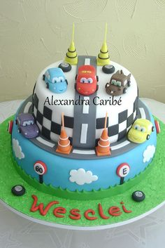 Bolo carros - Cars cake | Flickr - Photo Sharing!