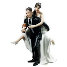 wedding football cake toppers