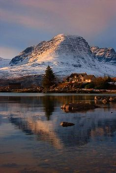 Applecross Hills, Loch Kishorn, North West Scotland. by Barbara Jones.