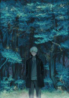 /Ginko Mushishi/#804719 - Zerochan | Artland | Yuki Urushibara / 「蟲の森」/「sanpin」のイラスト [pixiv]