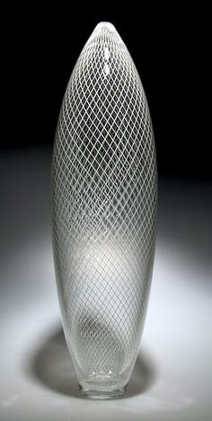 Reticello Parabola: David Patchen: Art Glass Vessel - Artful Home