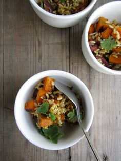 my darling lemon thyme: roast pumpkin + brown rice salad w/ spiced coriander dressing recipe