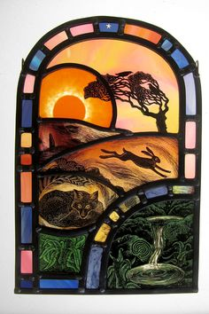 """Sacred Spring"" by stained glass artist Tamsin Abbott"